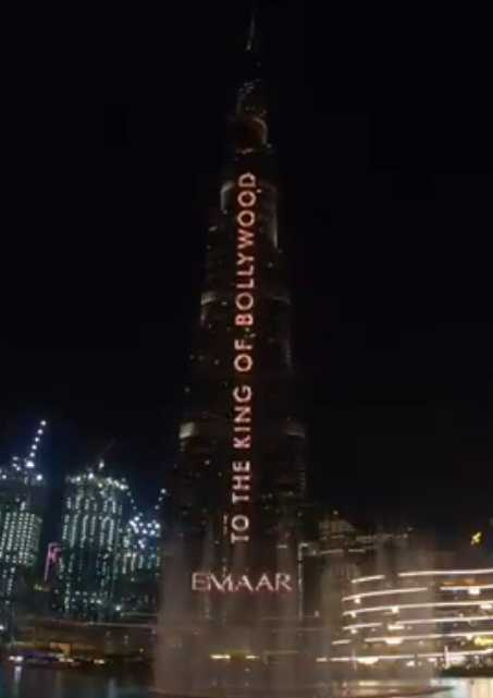 On Shah Rukh Khan S 54th Birthday Dubai S Burj Khalifa