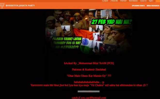 Delhi BJP website hacked; pro-Pak, anti-Modi messages posted
