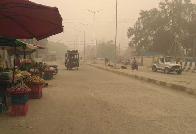 Moderate AIr quality in Tohana