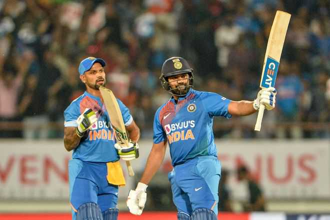 Rohit fireworks help India level series