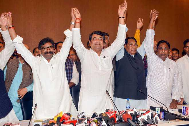 JMM, Cong, RJD unveil J'khand alliance