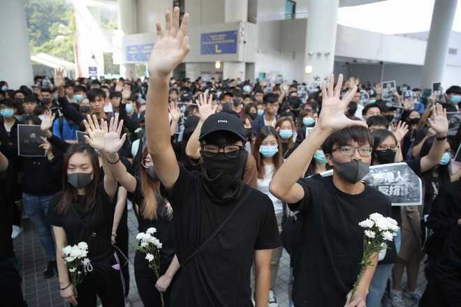 Student's death sparks anger among Hong Kong protesters