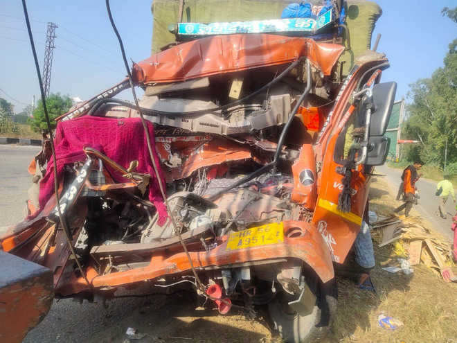 3 vehicles collide, truck driver killed