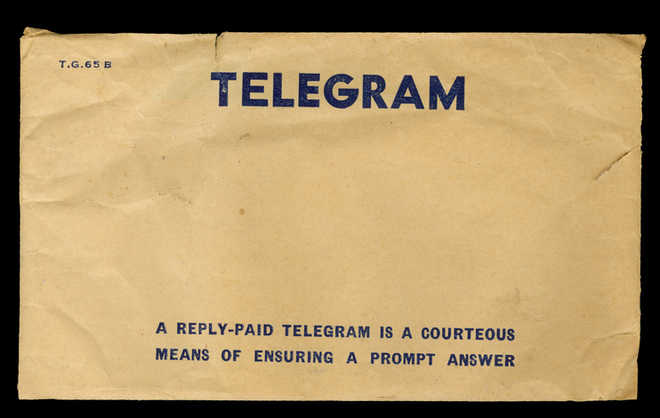 It happened in times of telegram