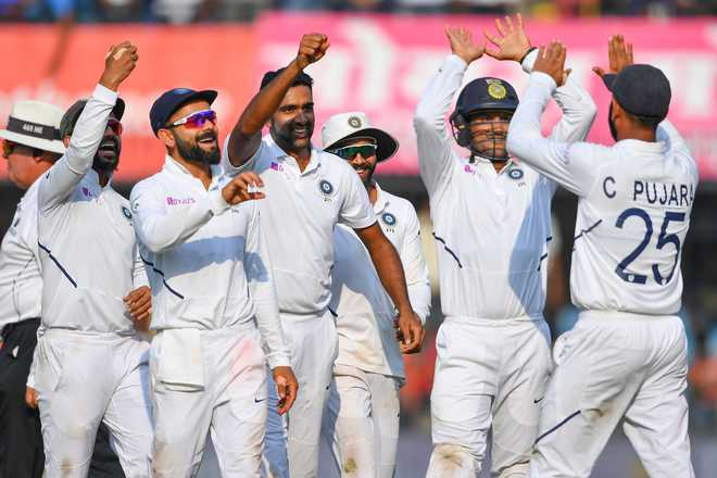 India crush Bangladesh by an innings and 130 runs to win Indore Test