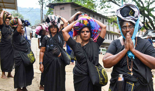 Sabarimala temple opens, 10 women sent back