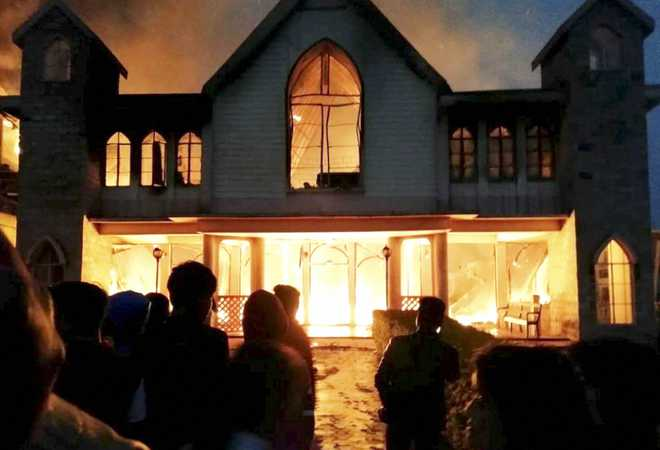 Meghalaya church, adjacent house gutted in fire, two killed