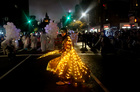People in costume participate in the 46th Annual Village Halloween Parade in Manhattan, New York City, US on October 31, 2019. — Reuters