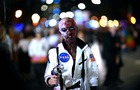 A zombie astronaut participates in the annual Village Halloween parade on Sixth Avenue on October 31, 2019 in New York. — AFP
