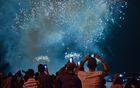 People watch the fireworks during the celebration of the 500 anniversary of Havana, Cuba's capital city on November 15, 2019. — AFP