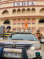 'Turban Traveller' returns to city from Kartarpur gurdwara