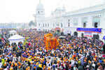 Amid corridor buzz, Nankana Sahib gurdwara draws sea of devotees