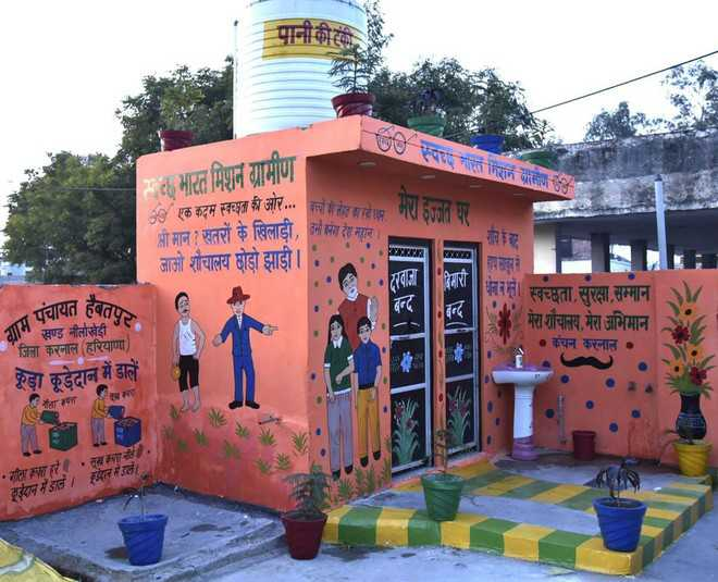 Karnal excels in swachhta, adorns 18,132 toilets with edu messages