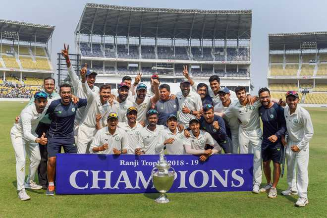 Defending champions Vidarbha wins Ranji Trophy; beats Saurashtra by 78 runs
