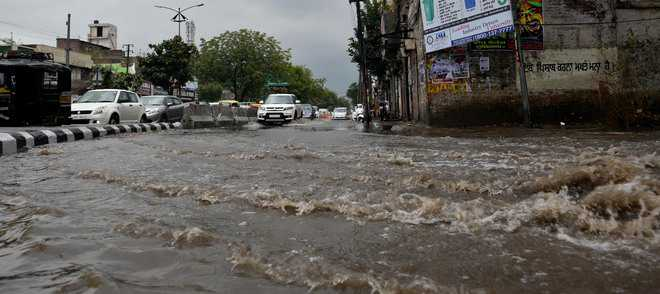 Rain submerges most areas, water enters shops, houses