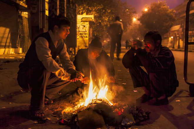 Temp dips to 3 degree Celsius in Nashik, grape growers light bonfires