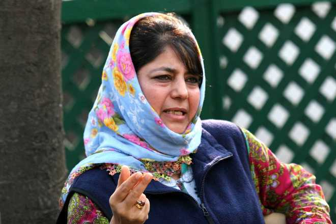 Mehbooba praises Pak on pro-minority stance, hits out at Centre on Ram temple