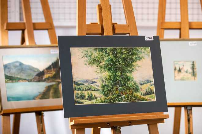 5 alleged Hitler watercolours go unsold at German auction