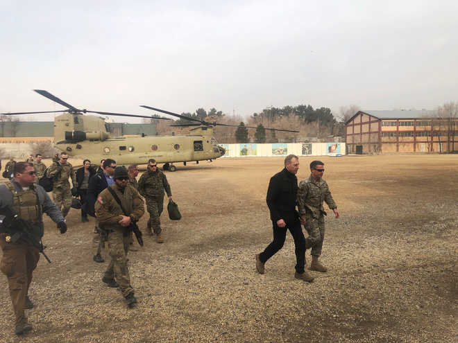 Acting Pentagon chief makes first Afghanistan trip before next round of peace talks