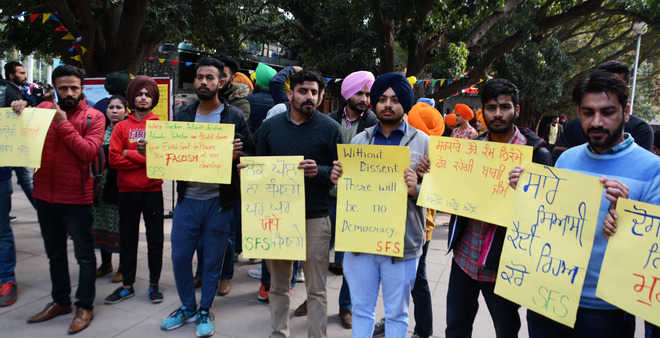SFS protests life imprisonment to 3 Sikh youths