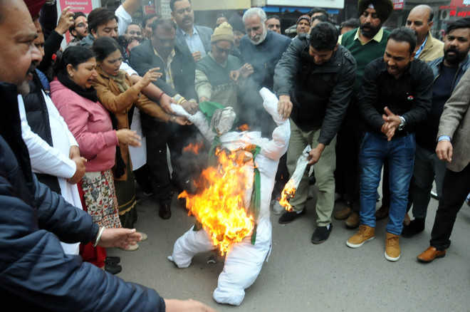 City erupts in protest over Pulwama attack