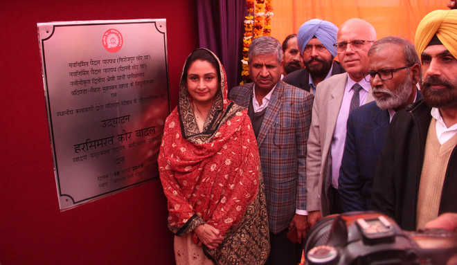 Harsimrat opens FOBs at railway station