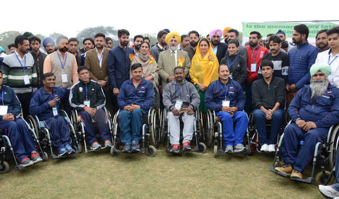 Differently abled players showcase sporting prowess