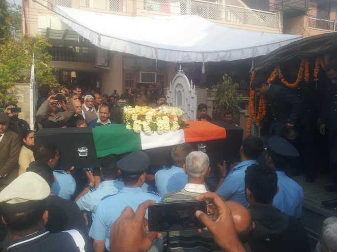 IAF pilot Sahil Gandhi cremated with full military honours