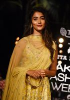 Indian Bollywood actress Pooja Hegde poses for a photograph at the Lakme Fashion Week (LFW) Summer Resort 2019 in Mumbai on January 31, 2019. — AFP
