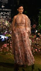 An Indian model showcases creations by designer Anita Dongre at the Lakme Fashion Week (LFW) Summer Resort 2019 in Mumbai on January 31, 2019. — AFP