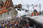 Rescue and relief works in progress after the nine coaches of Delhi-bound Seemanchal Express derailed at Sahadai Buzurg station in Vaishali district, Hajipur, Bihar, February 3. PTI