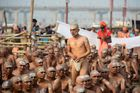 Newly initiated Naga Sadhus (Hindu holy men) gather as they perform rituals on the banks of the Ganga river during the Kumbh Mela, in Allahabad on February 6. AFP