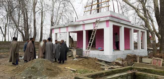 Pandits, Muslims join hands to renovate temple in Pulwama