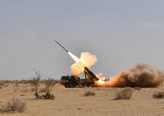 DRDO successfully conducts 3rd Pinaka rocket test