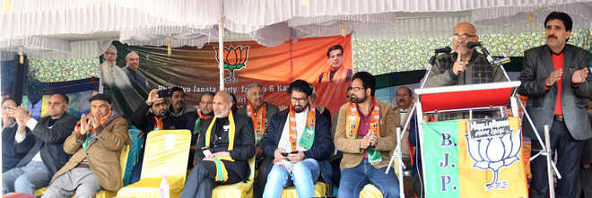 BJP sounds poll bugle in Kashmir, rules out alliance