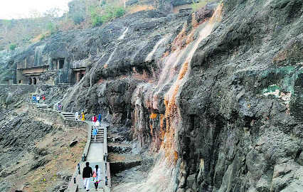 Ajanta Caves sans water for a month now
