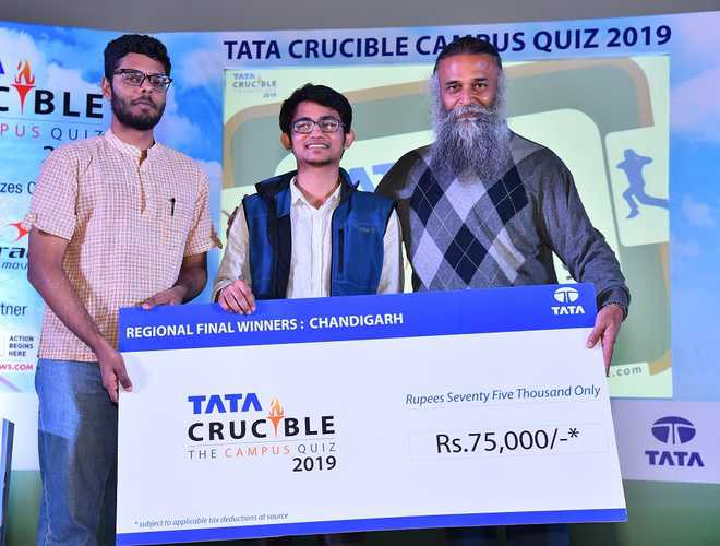 IISER team wins regional finals of Tata Crucible Campus Quiz