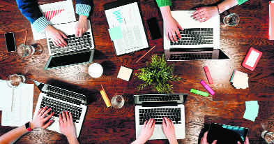 New-age bonding over workplace