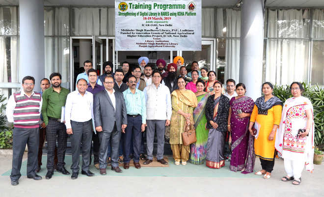 Session organised on strengthening digital library in agri research