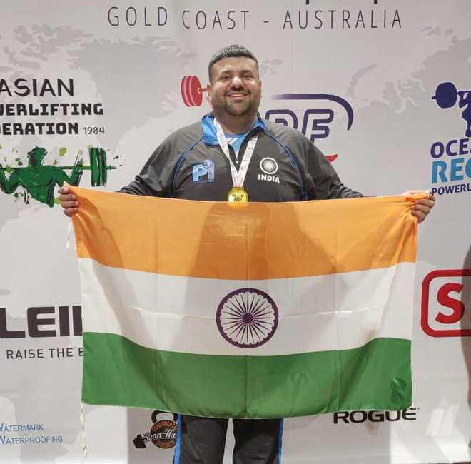 Bholath powerlifter wins gold in international c'ship