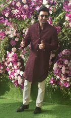 Bollywood actor Ranbir Kapoor poses for photos as he arrives for the wedding ceremony of Akash Ambani, son of the Chairman of Reliance Industries Mukesh Ambani at Bandra-Kurla Complex in Mumbai on March 9, 2019. PTI