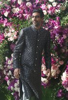 Google CEO Sundar Pichai poses for photos as he arrives for for the wedding ceremony of Akash Ambani, son of the Chairman of Reliance Industries Mukesh Ambani at Bandra-Kurla Complex in Mumbai on March 9, 2019. PTI