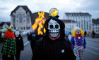 Carnival revellers march during the traditional Morgenstreich parade through the streets of Basel, Switzerland March 11, 2019. — Reuters