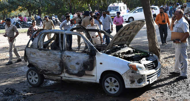 Youth charred to death in car