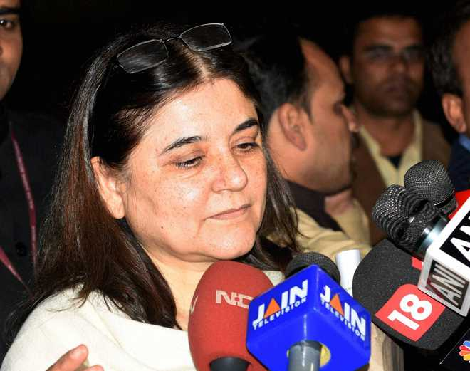 Maneka's new salvo: Grading of villages based on votes