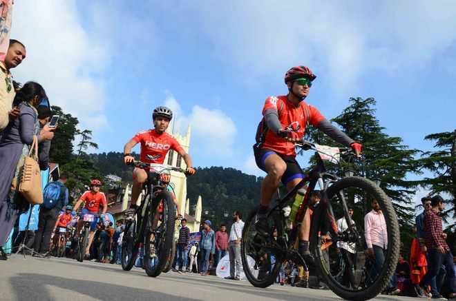 Mountain bike rally flagged off