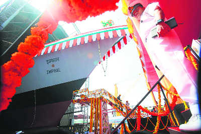 Navy gets missile-destroyer Imphal