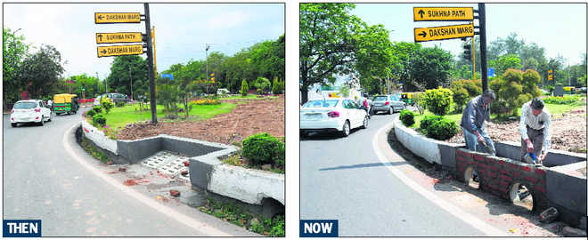 Civic body 'admits fault', goes roundabout