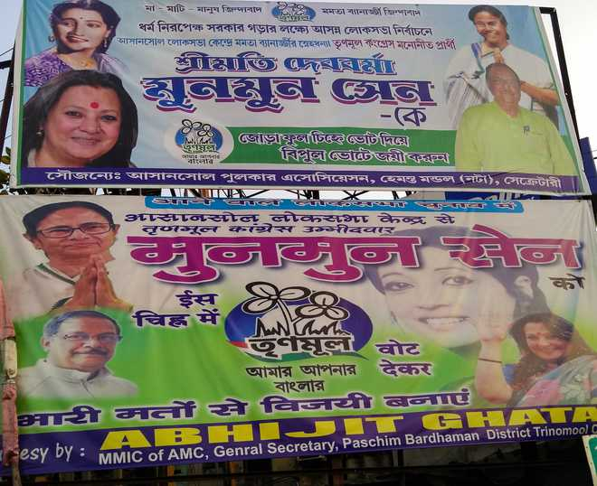 Recluse when alive, Suchitra Sen all over daughter Moon Moon's poll posters