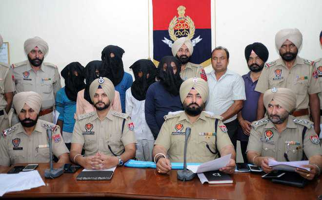 Four held with 34-kg ganja